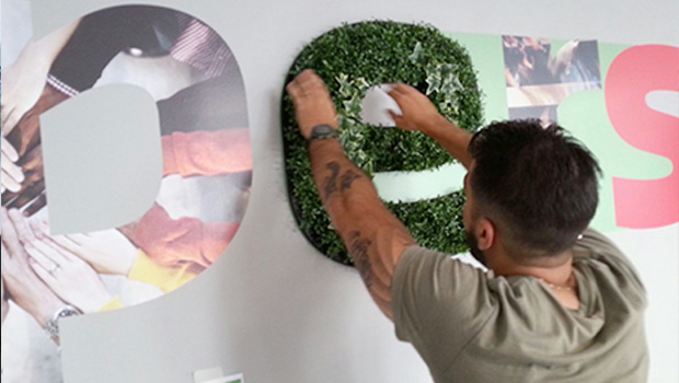 Sodexo 2 3d Letters Installation