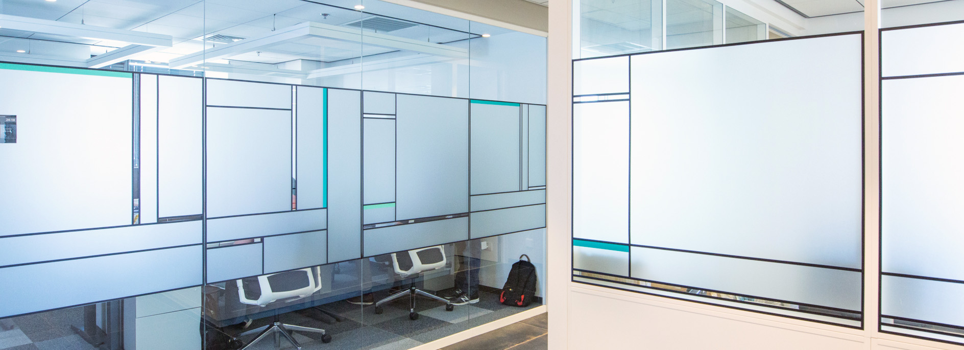 Big Wide Frosted Decals Office Design Ibm 8