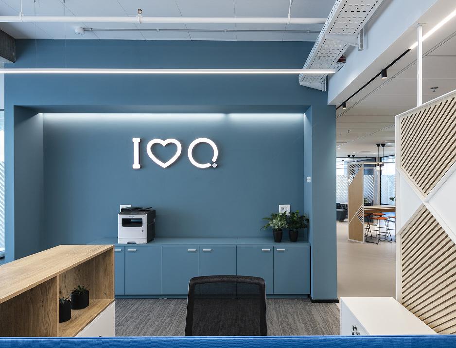 עיצוב משרדים | מיתוג גרפי | חברת קווסט | שילוט | עיצוב גרפי במרחב | מיתוג משרדים | עיצוב חללי עבודה | עיצוב קירות