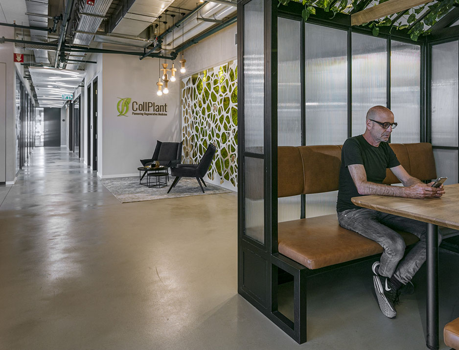 עיצוב משרדים/ מיתוג גרפי/ חברת קולפלנט/ עיצוב גרפי במרחב/ מיתוג משרדים/ עיצוב חללי עבודה